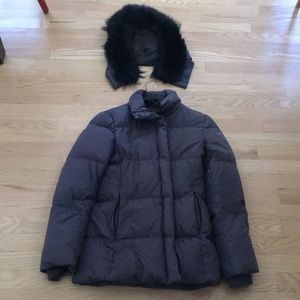 Theory Down Parka Jacket w Removable Fur Hood